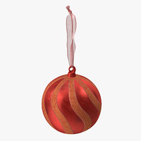 3D ornament 03 red