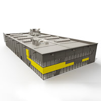 3D industrial architecture model