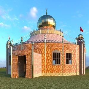 persian tent 3D model