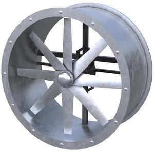 axial flow fan 1 3D model