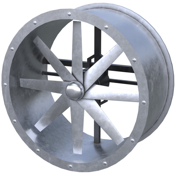 axial flow fan 1 3D model