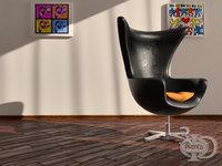 3D armchair 3