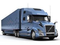 3D vnl 760 2018 semi trailer