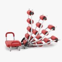 3D ab rocket twister trainer model
