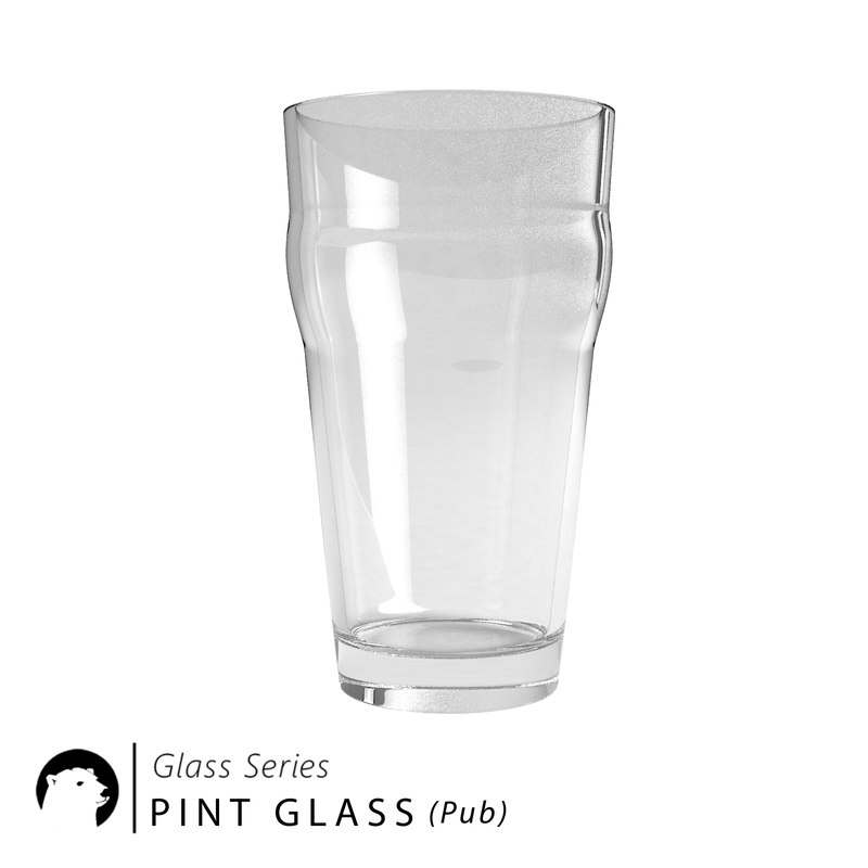 glass pint pub 3D