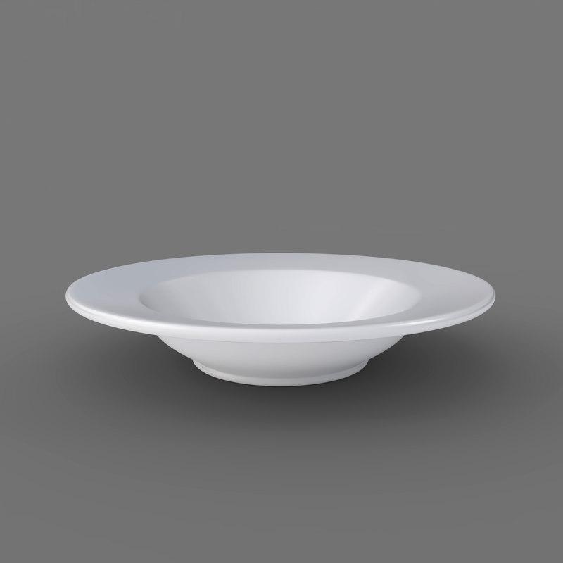 single plate - soup 3D model