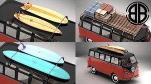 3D volkswagen samba 1959 accessory model