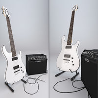 3D guitar cort kx5 amp