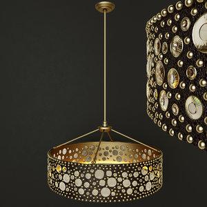 3D model rh ambrose chandelier