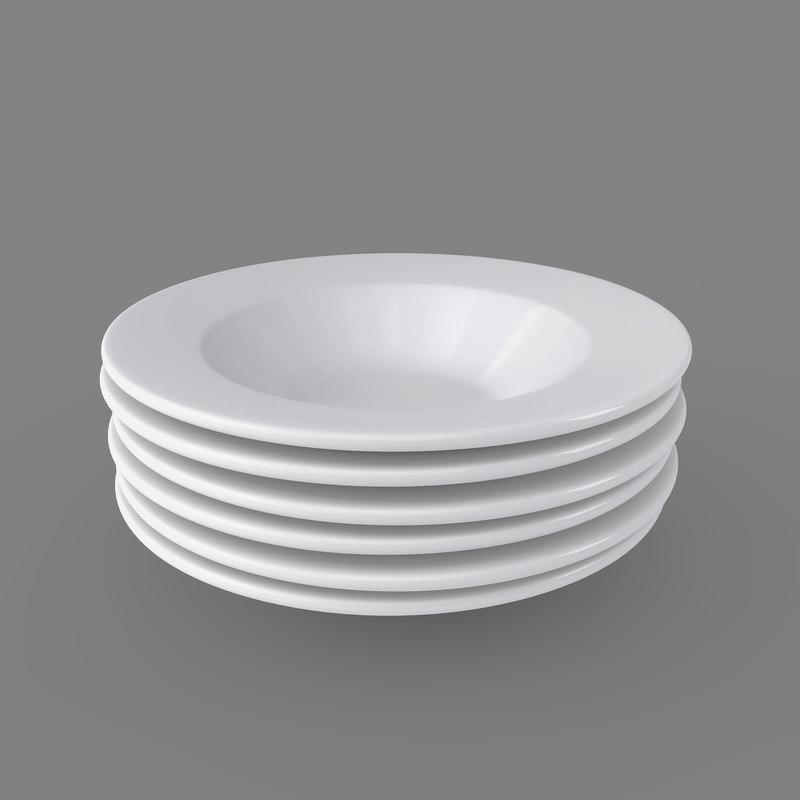 plates pack 6 - 3D