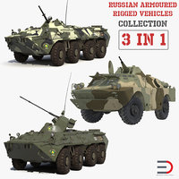 Russian Armoured Rigged Vehicles Collection