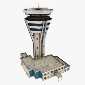 3D air traffic tower model