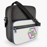 messenger bag black 3D model