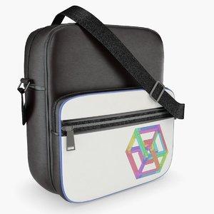 messenger bag black 3D model