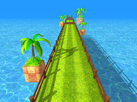 3D endless runner racing