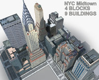 new york manhattan midtown 3D model