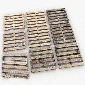 wooden pallets 3D model