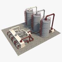 Oil Refinery Silo 1