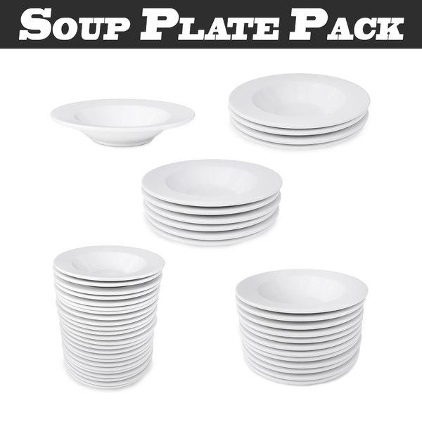 3D soup plate pack - model
