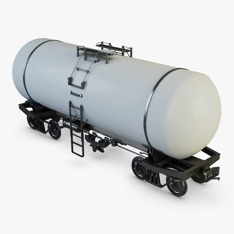3D train cistern model