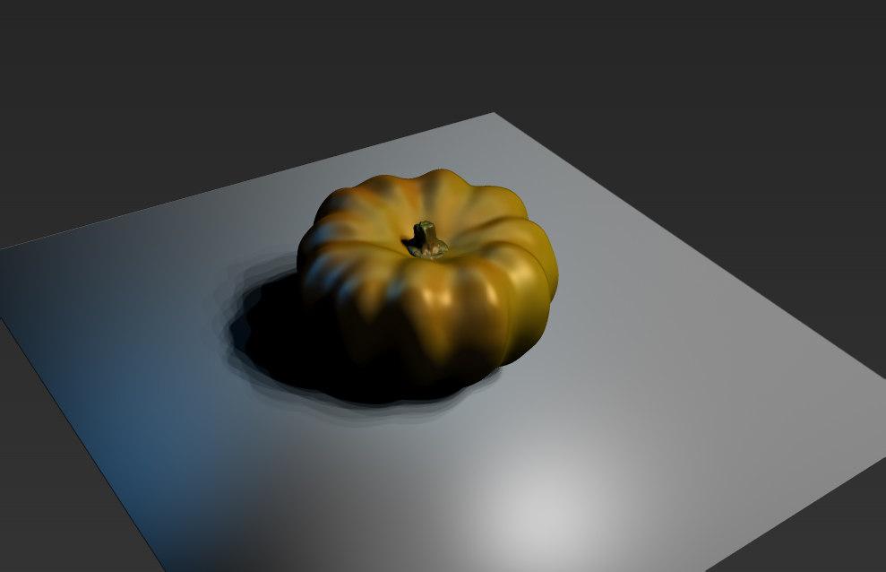 3D pumpkin zbrush