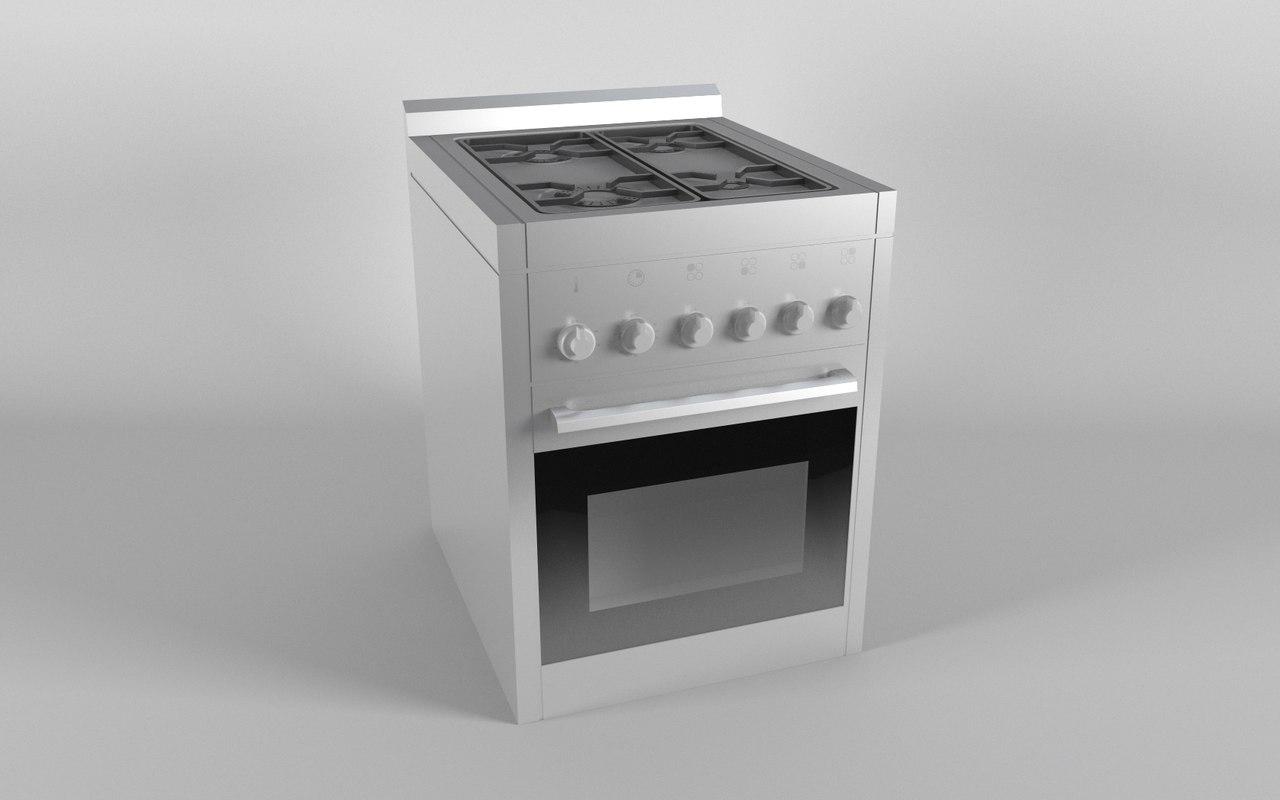 3D burner cook burn model
