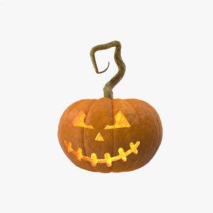 3D halloween pumpink model