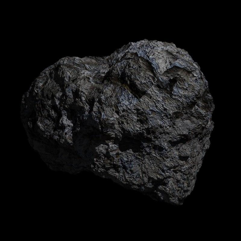 3D model asteroid 3k blender