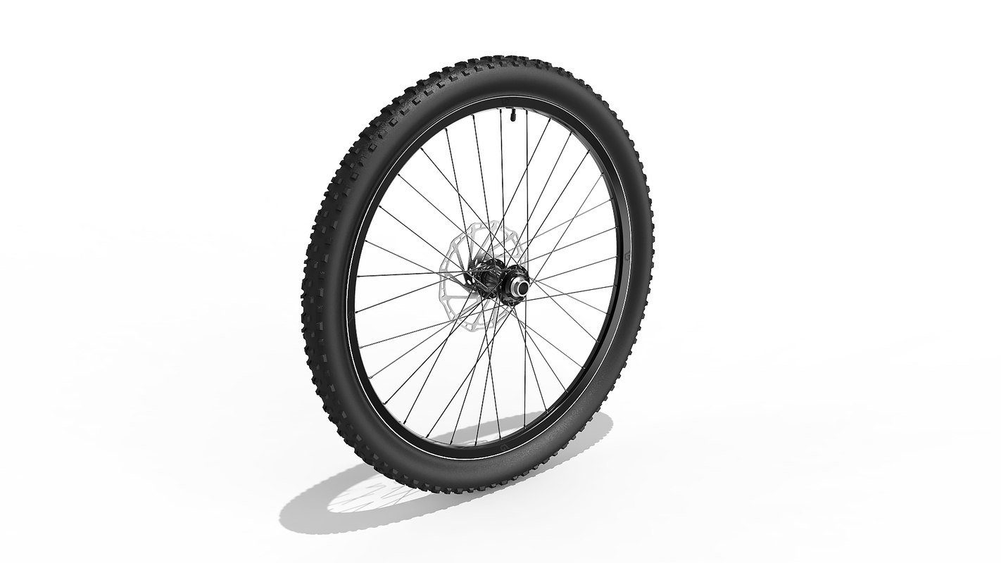 3D bicycle wheel 27-5 inch model