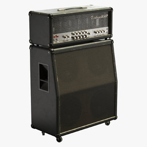 vintage guitar amp speaker 3D model