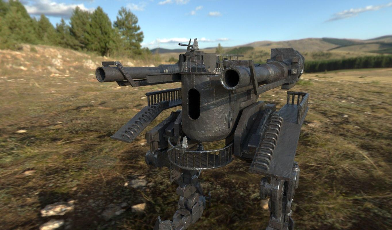 3D mecha old model