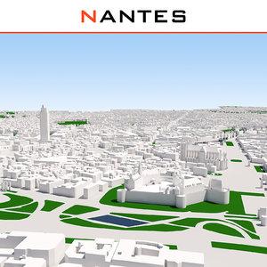 3D model nantes cityscape