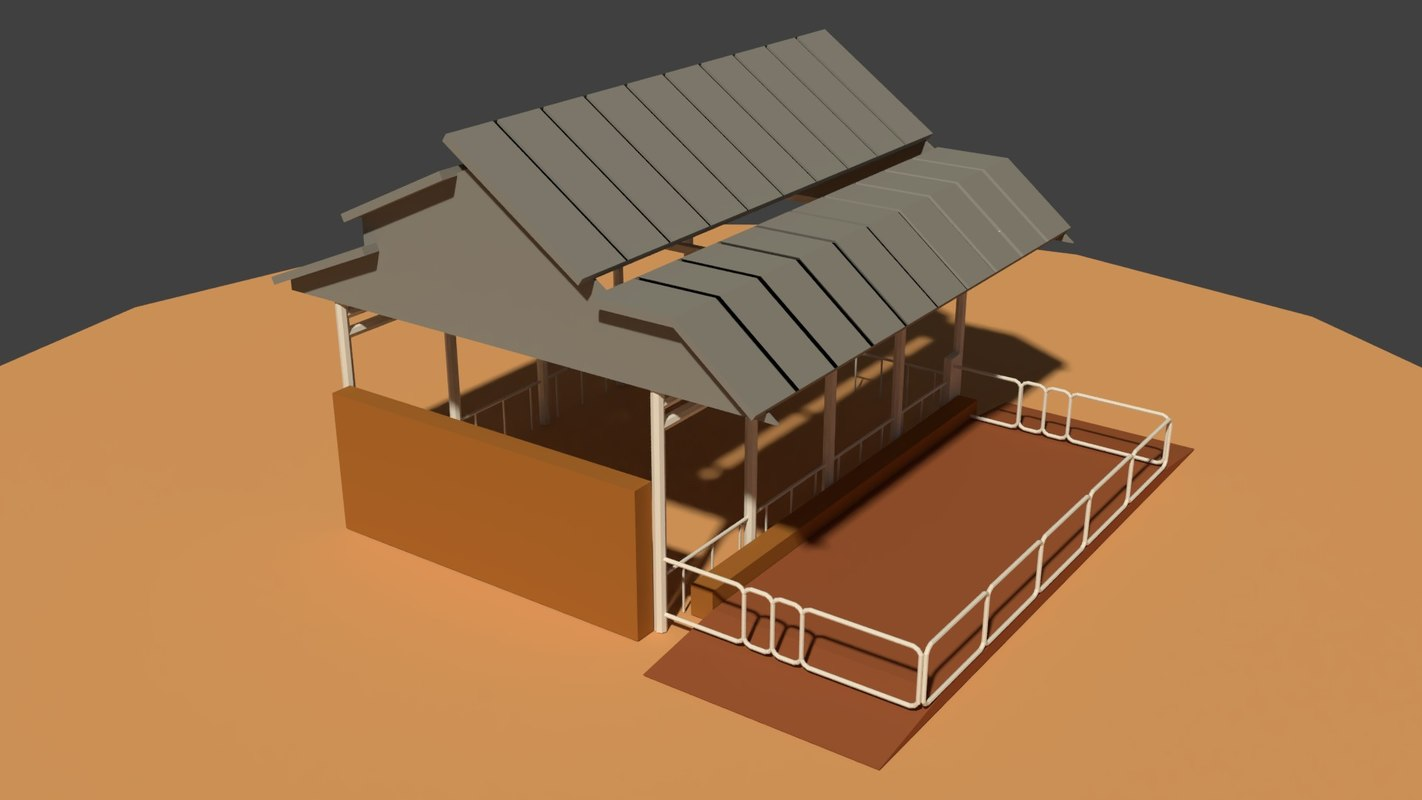 3D cow shed