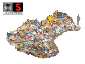 wastepaper garbage 3D model
