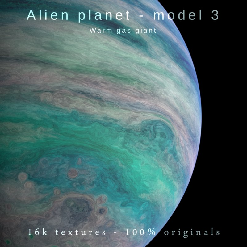 exoplanet alien planet gas 3D