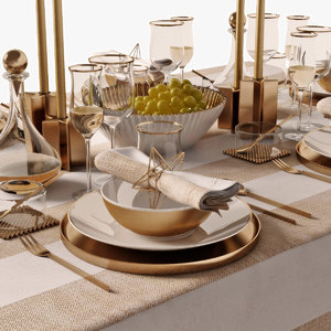 3D model table setting