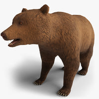 3D bear rigging blender