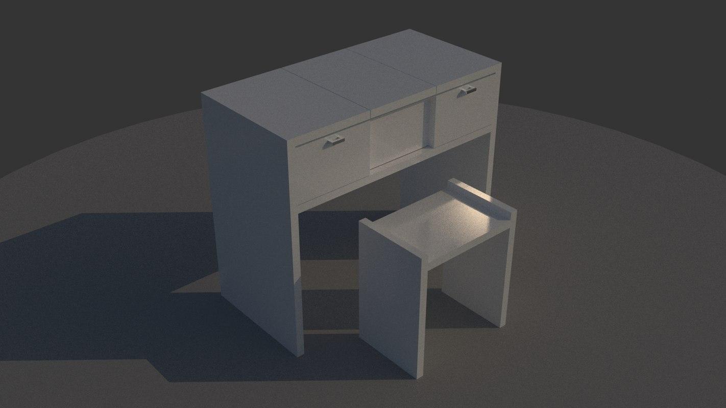 3D make desk model