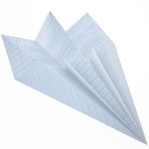 3D paper airplane model