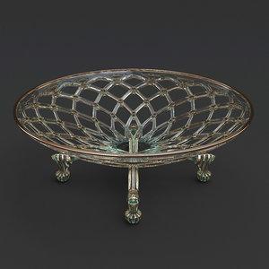 decorative fruit bowl 3D model