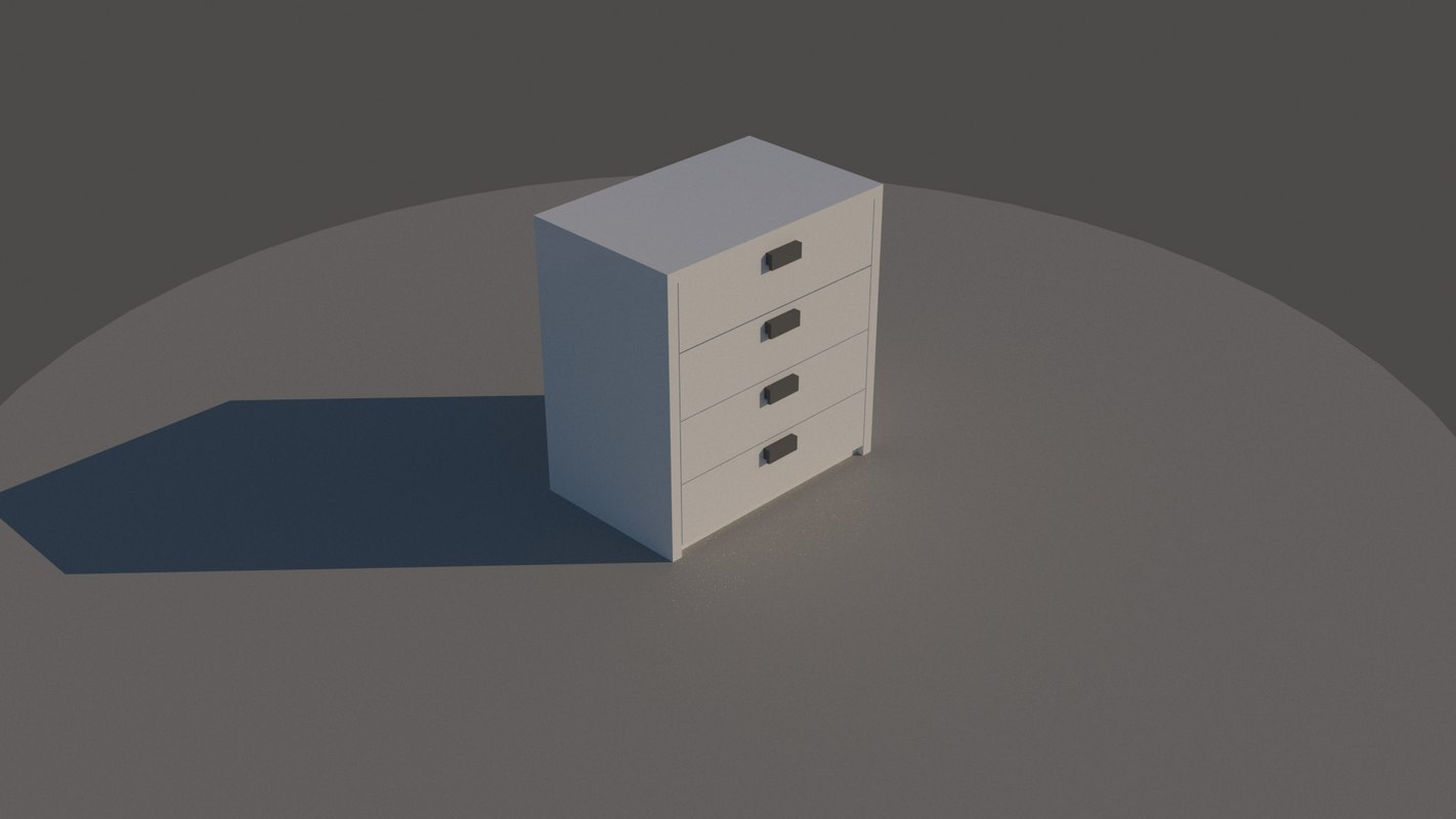 3D chest drawer