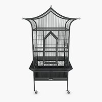 3D bird cage royalty model