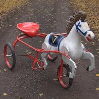 vintage soviet horse tricycle 3D