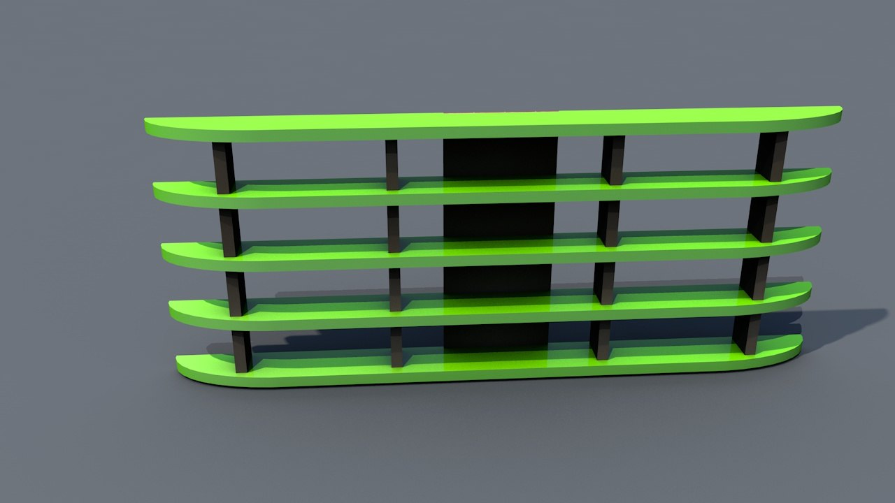 3D model shelf shelves