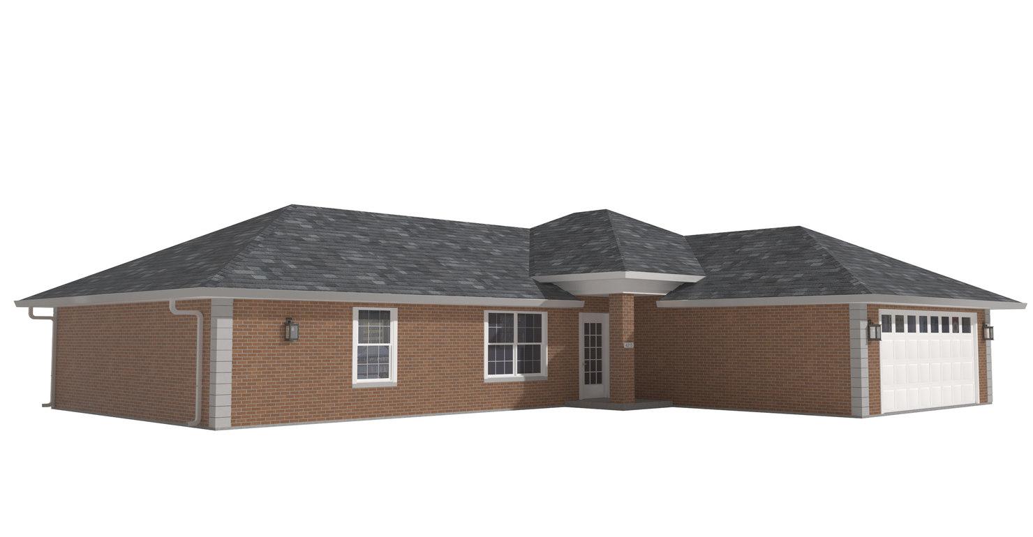 3D home house model