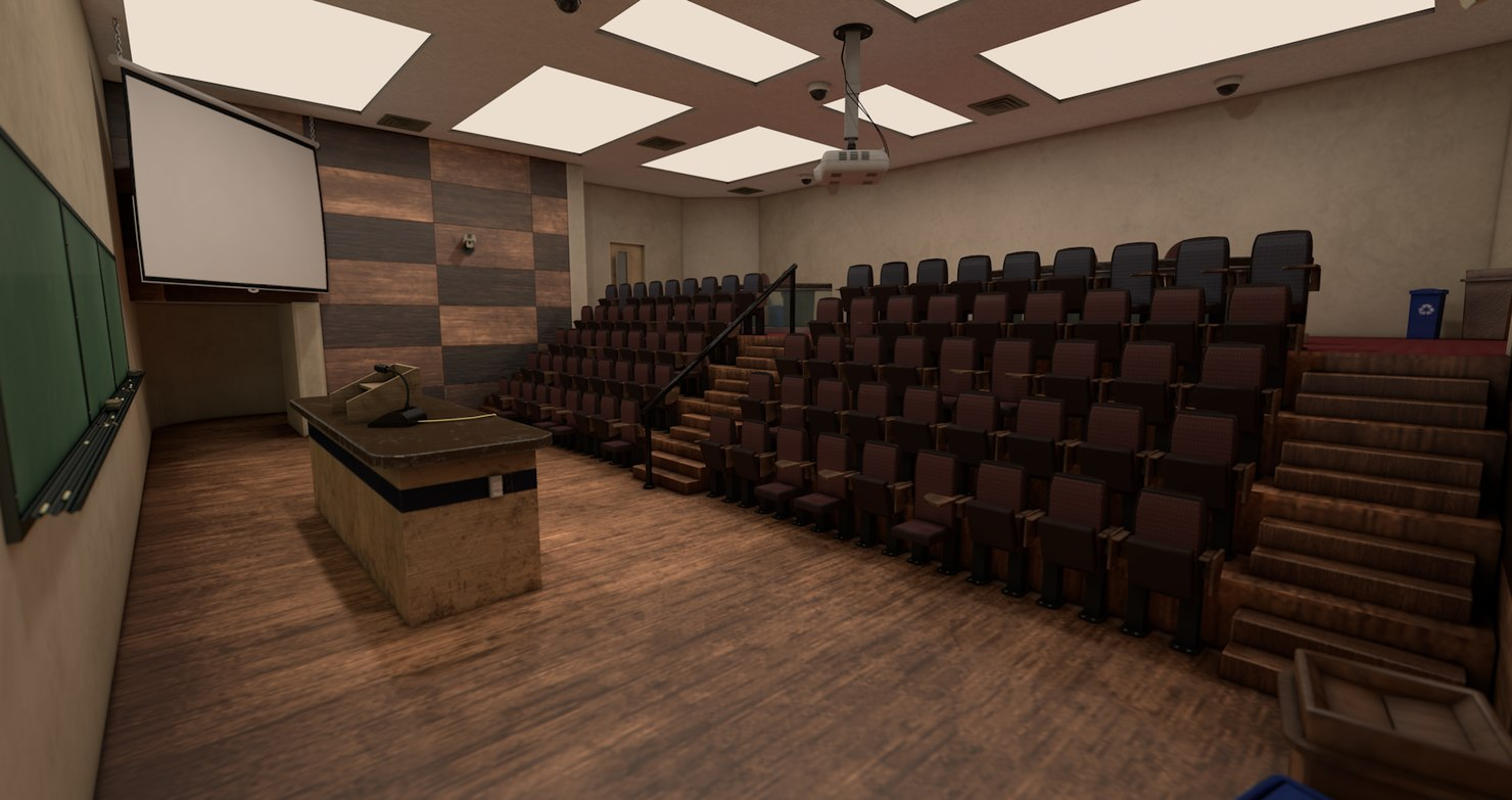 3D lecture hall