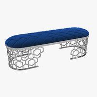 3D longhi armanda bench