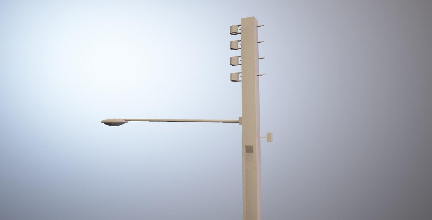 3D post luz light model