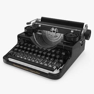 antique typewriter model