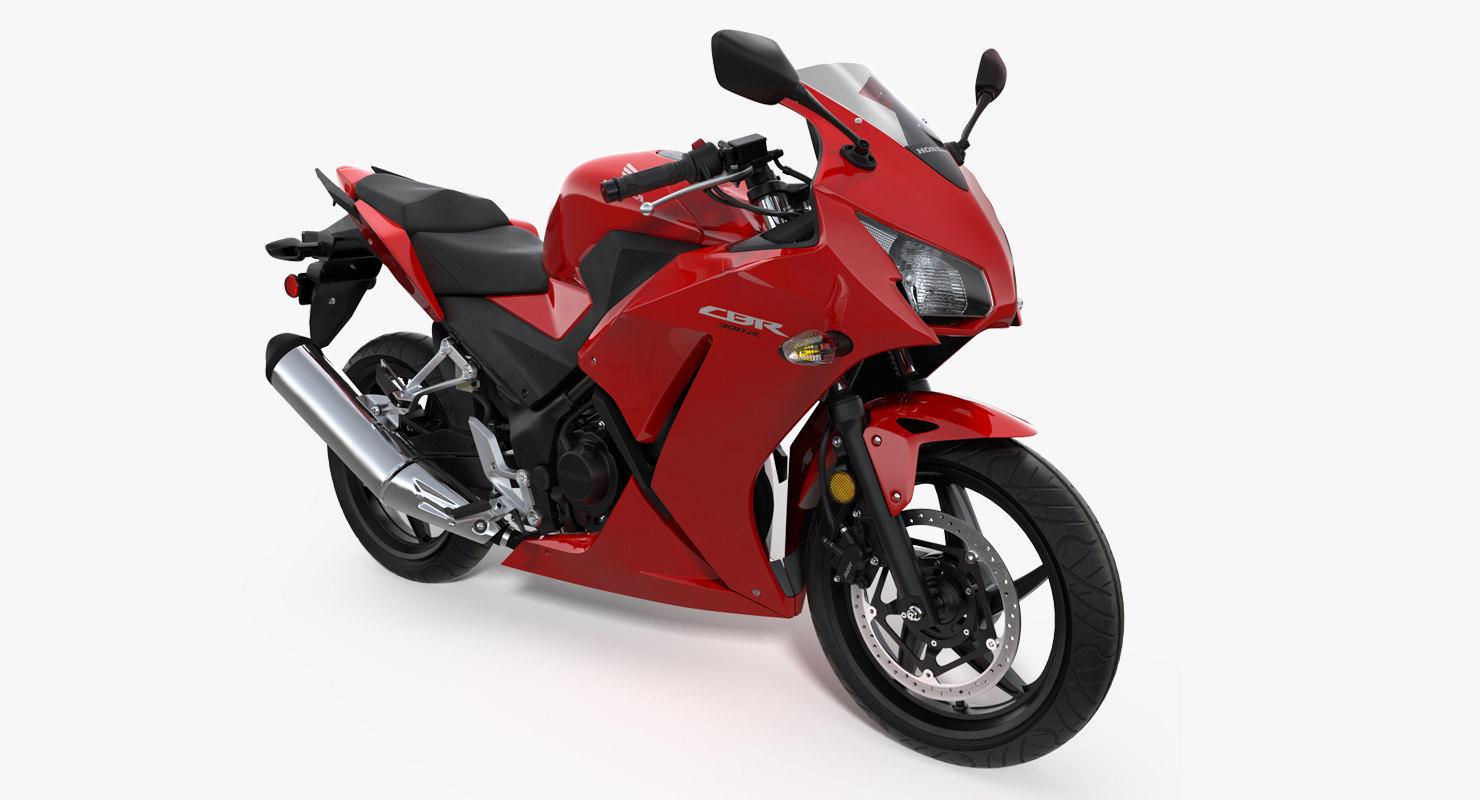 honda cbr300r 2016 lightweight 3D model